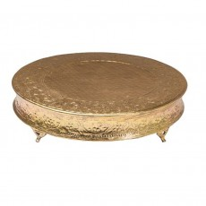 Circular Cake Stand 45cm Steel Gilt Finish