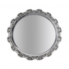 Polished Aluminium Wall Mirror Chain Link