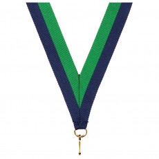 Green/Blue Striped Neck Ribbon