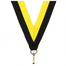Black/Yellow Striped Neck Ribbon