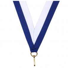 Dark Blue/White Striped Neck Ribbon