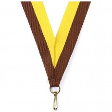 Maroon/Yellow Striped Neck Ribbon