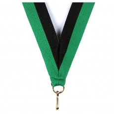 Black/Green Striped Neck Ribbon