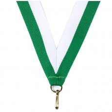 Green/White Striped Neck Ribbon