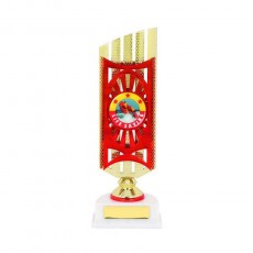 Lifesaving Red/Gold Column Trophy