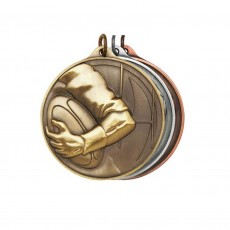 Rugby Sculptured Medal