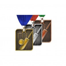 Cricket Rectangle Medal