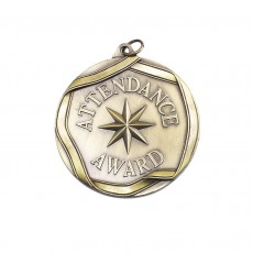 Attendance Award Sculptured Medal