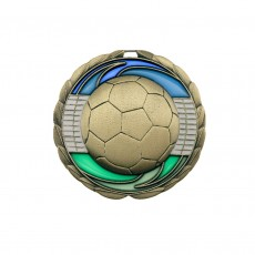 Stained Glass Soccer Medal
