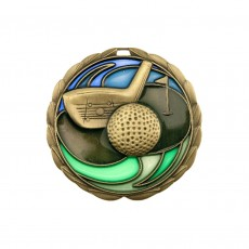 Stained Glass Golf Medal