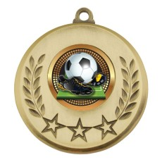 Soccer medal Gold with insert