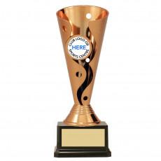 Bronze 'Carnival' Cup on Black Base