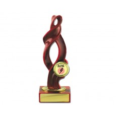 "03. Red Ribbon on Red Base, 1"" Holder"