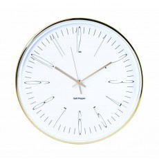 S&P Zone Gold Metallic Metal Wall Clock