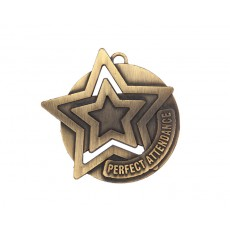 Perfect Attendance Star Medallion