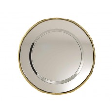 Nickel Plated Tray with Gold Edge