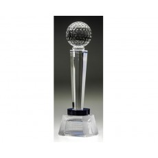 Crystal Golf Blue Apollo Pillar Award