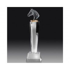 Horse on Crystal Pedestal Award