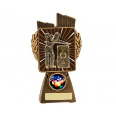 Pool/Snooker 'Lynx' Resin Trophy